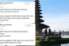 15 Cuitan lucu pengalaman bule liburan di Indonesia bikin ngakak