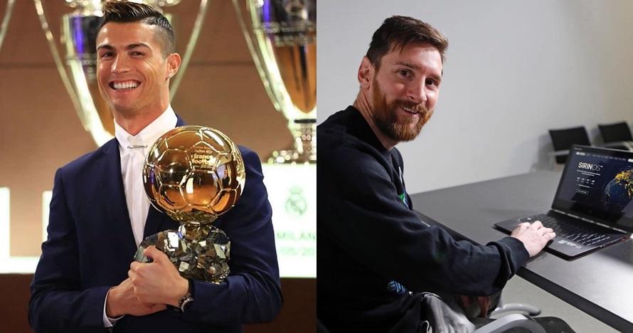 Tak menang Ballon d'Or, begini reaksi Messi dan Ronaldo