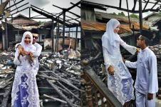Curhat pengantin yang rumahnya terbakar H-2 nikahan, bikin mewek