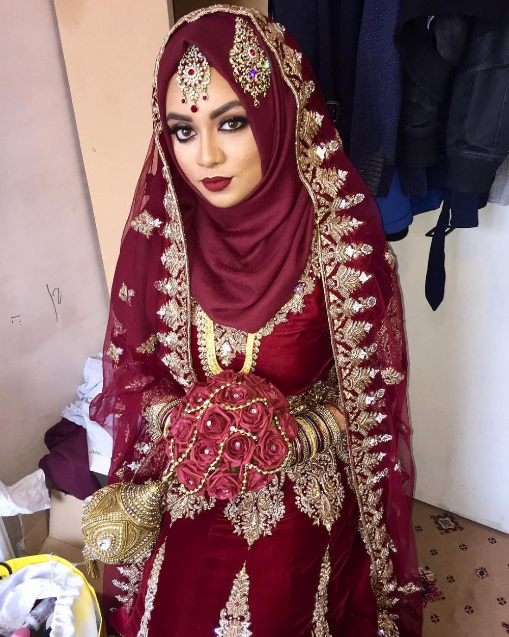 Marina Maitland - Wedding Dress: Hijab Indian Wedding Dress