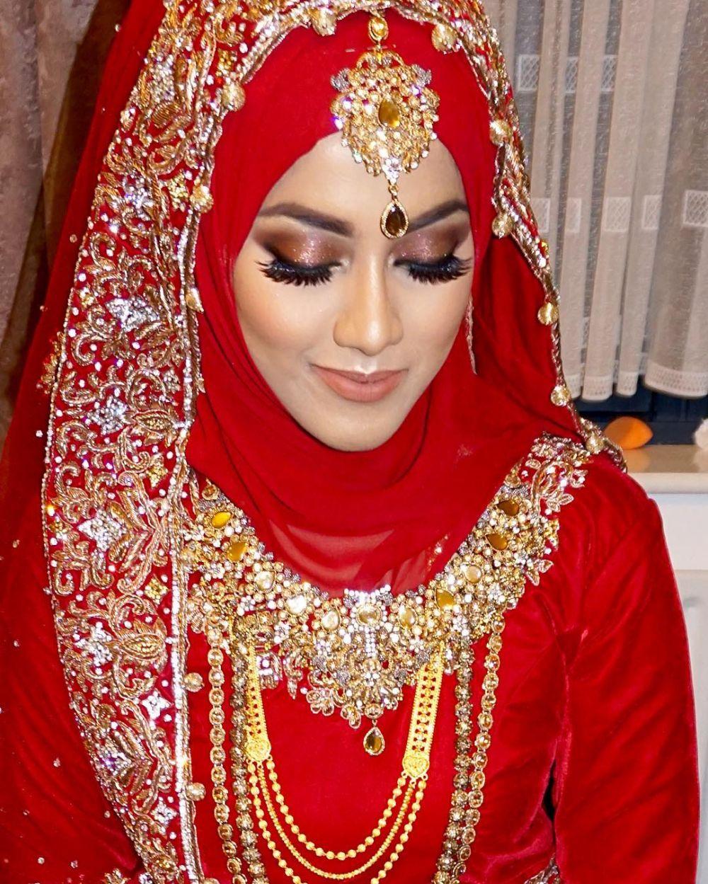 hijab pengantin ala india   inspirasi pernikahan