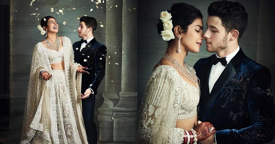 7 Fakta gaun pernikahan Priyanka Chopra, panjangnya 25 meter