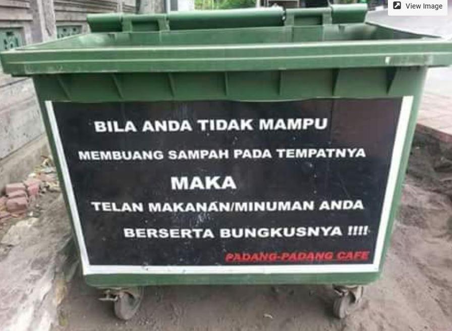 Pesan Buang Sampah  © 2018 brilio.net