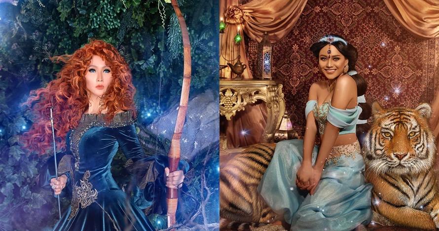 13 Gaya Seleb Pemotretan Ala Putri Disney Inul Daratista Manglin
