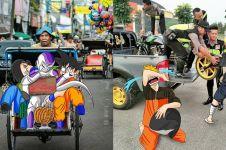 10 Ilustrasi karakter anime tinggal di Indonesia ini bikin ngakak