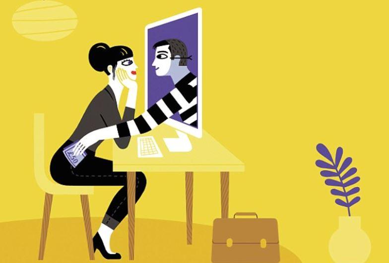 15 Ilustrasi tentang kisah cinta virtual ini ngena banget