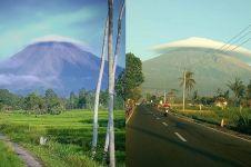 15 Potret Gunung Semeru 'bertopi', fenomena alam unik