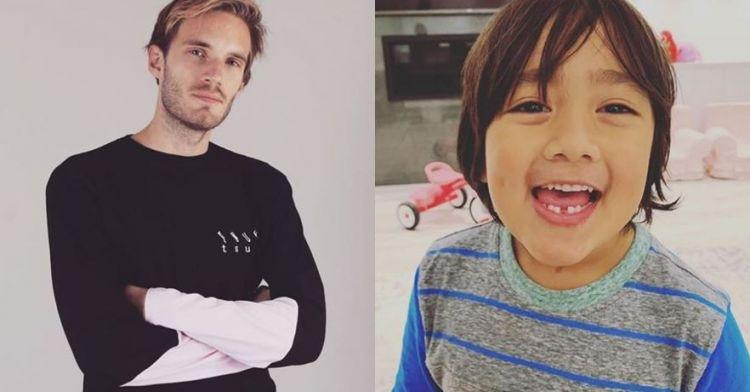 10 YouTuber terkaya 2018, peringkat satu usianya 7 tahun