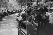 20 Foto lawas di ruang publik sebelum ada smartphone