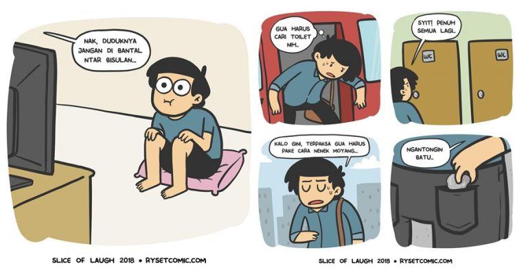 10 Komik strip lucu mitos masa kecil ini bikin ketawa nostalgia