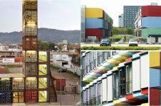 10 Bangunan unik terbuat dari kontainer, arsitekturnya kece