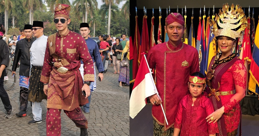 7 Potret Agus Yudhoyono kenakan baju adat, gagah & berkharisma