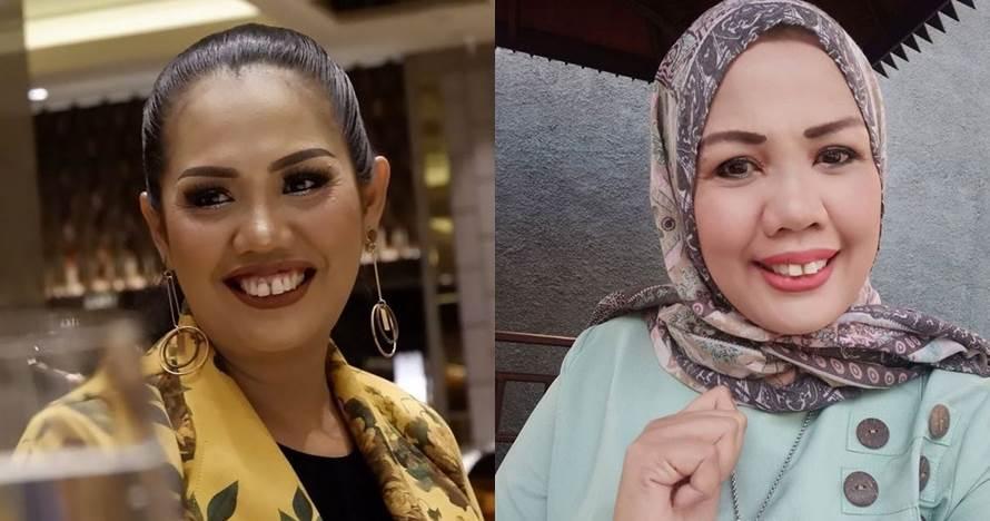 8 Pesona Ely Sugigi dengan balutan hijab, tampak kalem