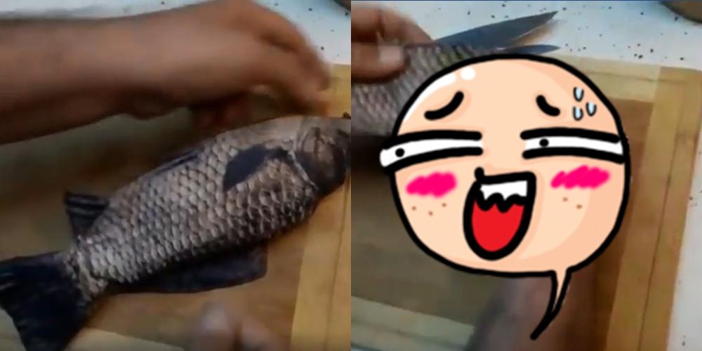 Ending cara mengeluarkan isi perut ikan ini bikin geleng kepala