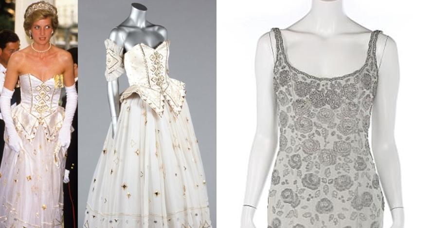 10 Baju putri Kerajaan Inggris dilelang, punya Lady Diana termahal