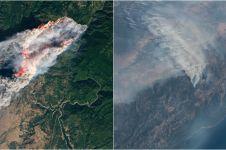 15 Potret kebakaran hutan dilihat dari satelit NASA, ngeri abis