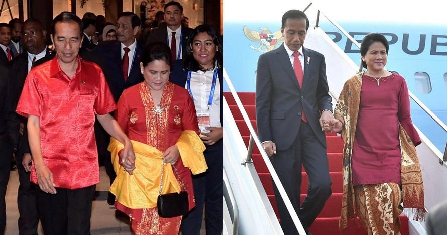 10 Momen Jokowi & Iriana bergandengan di sela bertugas, so sweet