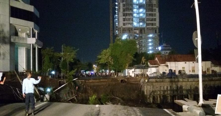 10 Potret kondisi Jalan Gubeng Surabaya sesaat setelah ambles