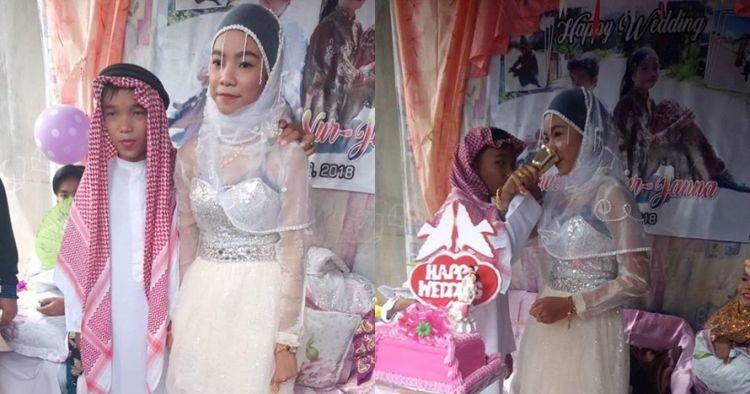 Viral pernikahan bocah mirip pesta ulang tahun, ini faktanya