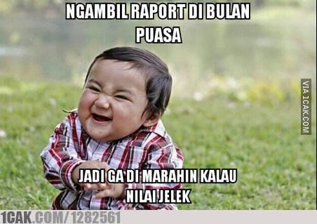 meme lucu terima raport © 1cak.com