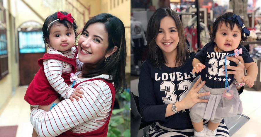 7 Potret Andi Soraya dan baby Kylie kembaran baju, bikin gemes