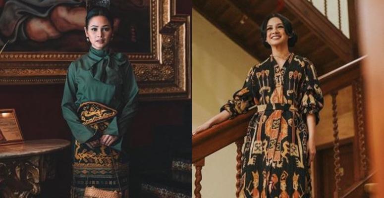 7 Pesona Andien kenakan kain tradisional, anggun banget