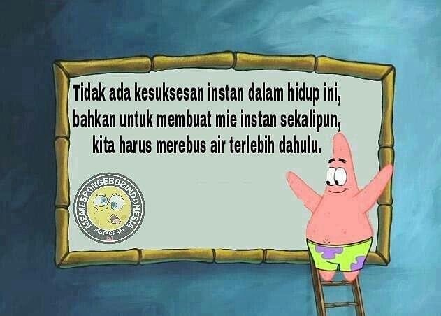 meme spongebob patrick © 2018 berbagai sumber