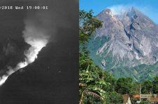 10 Foto terbaru guguran lava pijar di puncak Gunung Merapi