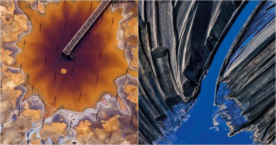 12 Foto udara dampak limbah industri ini indah tapi mengerikan
