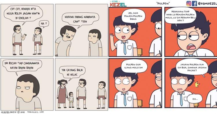 12 Komik Strip Lucu Obrolan Anak Sekolah Ini Bikin Ketawa