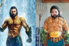 10 Cosplay low budget ini kreatif banget, Aquaman cuma pakai sayuran