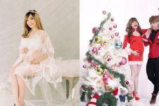 10 Potret maternity Angel eks Cherrybelle, ada yang tema Natal