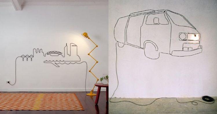 10 Desain tatanan kabel di dinding ini bikin ruanganmu artsy