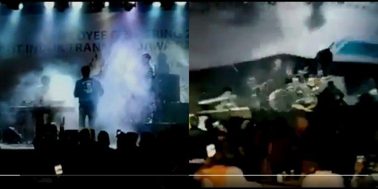 Video detik-detik tsunami Banten, robohkan panggung band Seventeen