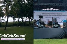 Potret lokasi Seventeen manggung di Tanjung Lesung
