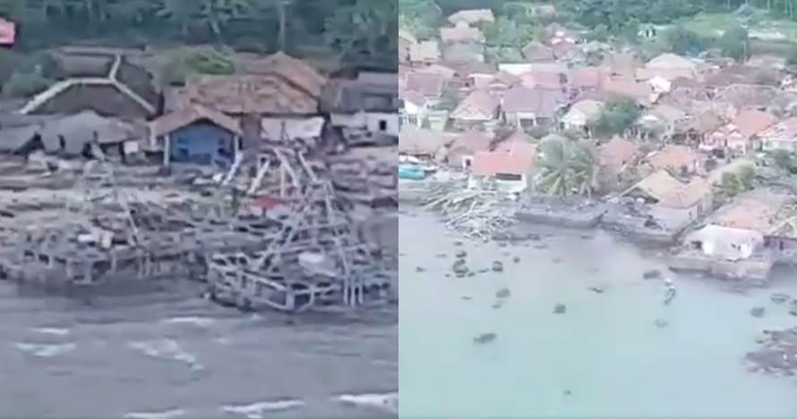 10 Potret Kalianda Lampung Selatan dari udara pasca tsunami Banten