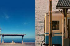 20 Potret Shimonada, stasiun kereta api paling indah di dunia