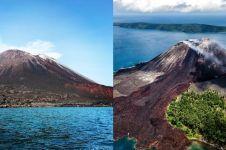 11 Foto keindahan Anak Krakatau sebelum meletus