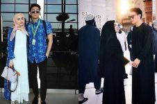 10 Potret kenangan Ifan Seventeen dan Dylan Sahara saat umrah