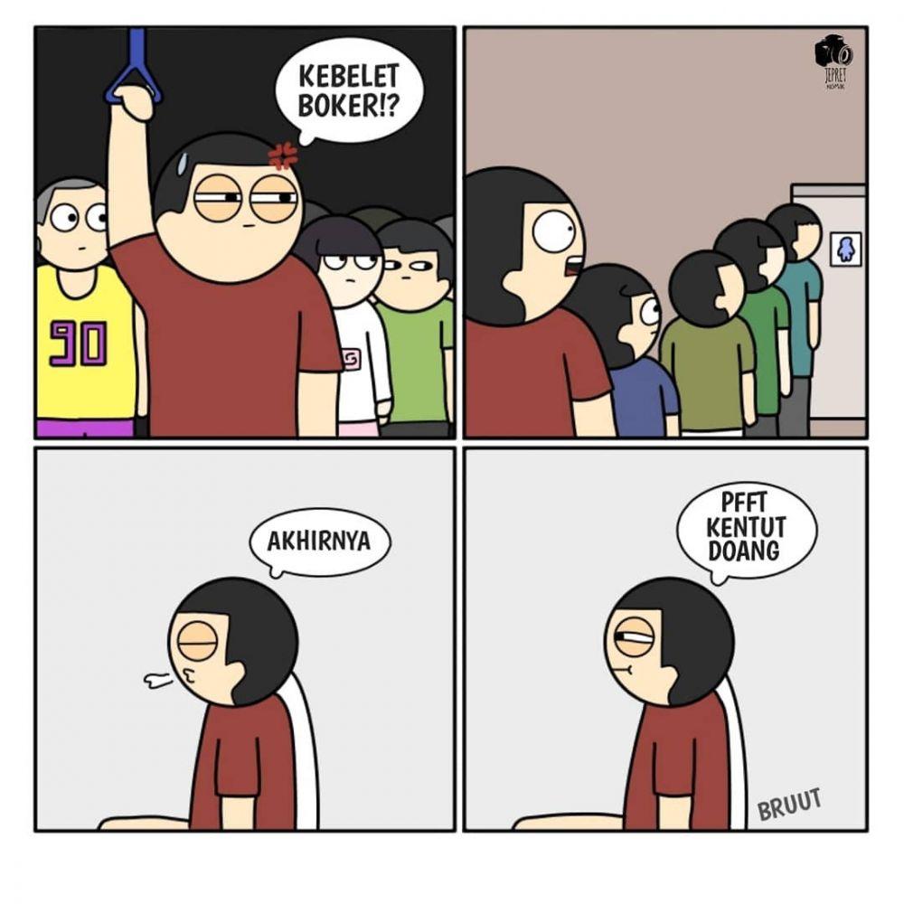 10 Komik Strip Lucu Pengalaman Naik Transportasi Umum Kocak Pol