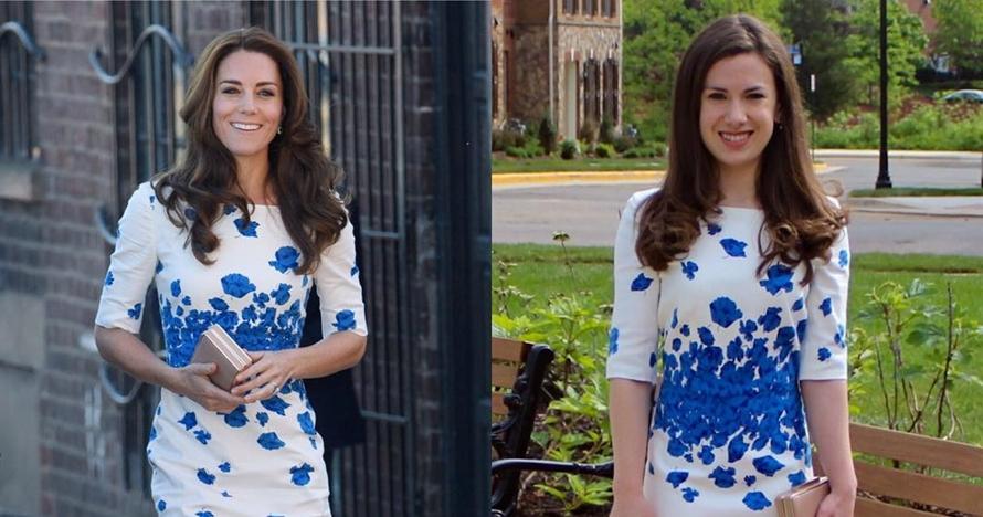 Cewek ini tiru busana Kate Middleton, 10 gayanya mirip banget