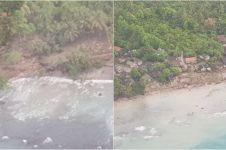 10 Potret udara daerah yang terkena tsunami Selat Sunda