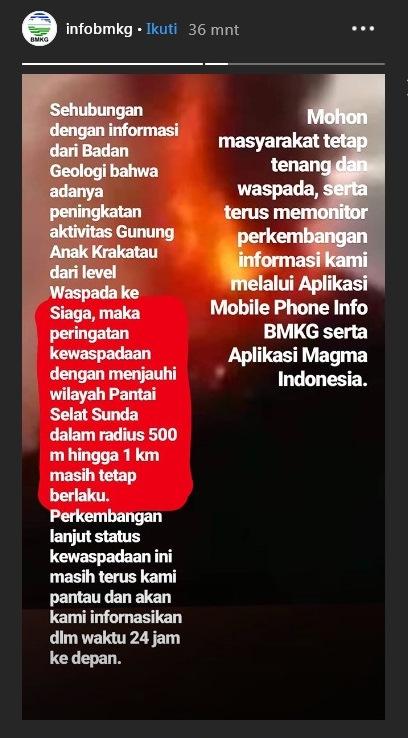anak krakatau siaga instagram