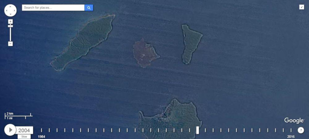 timelapse anak krakatau © Google Earth