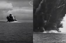 Video letusan Anak Krakatau 1927, gunung masih di bawah laut