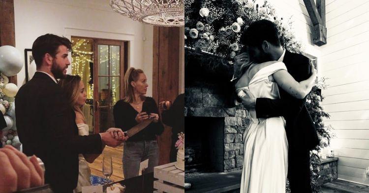 6 Foto pernikahan Miley Cyrus & Liam Hemsworth, digelar tertutup