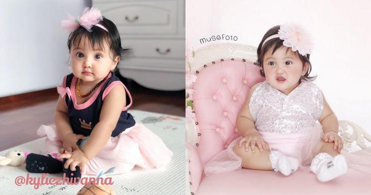 6 Gaya pemotretan baby Kylie putri Andi Soraya, bak boneka hidup