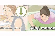 10 Meme lucu waktu cewek lagi diet ini kocak abis