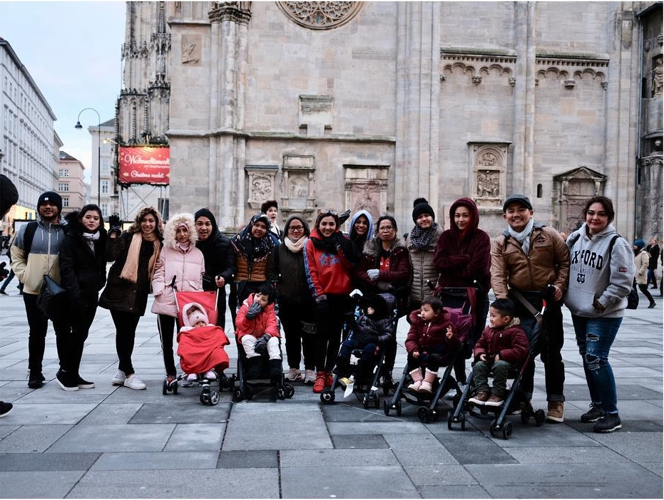 keluarga Ashanty liburan di Italia  © 2018 brilio.net