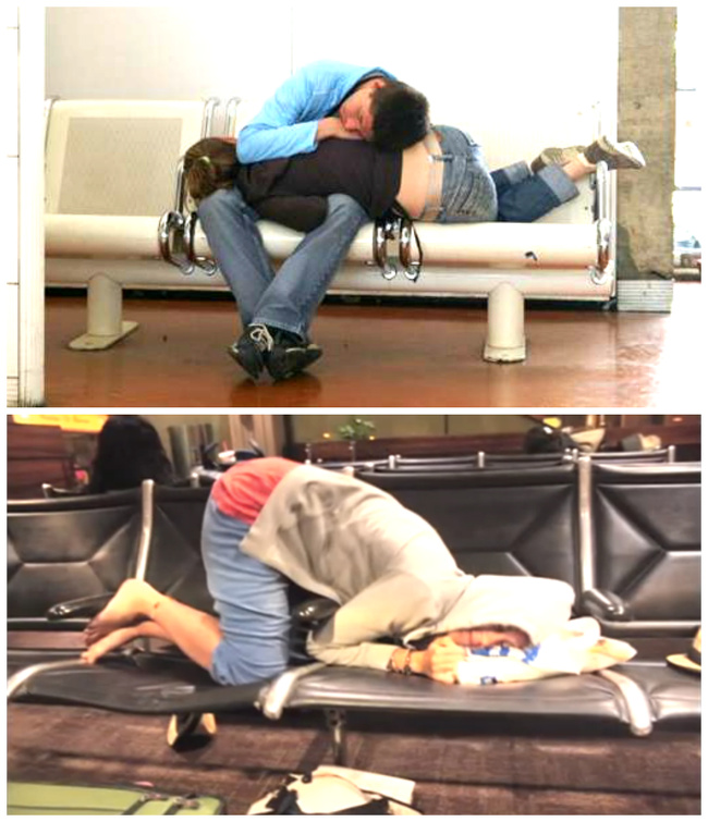 kelakuan kocak lagi di bandara © brightside.me
